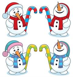 little snowman vector image