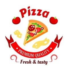 Premium pizza icon for pizzeria menu design vector image vector image