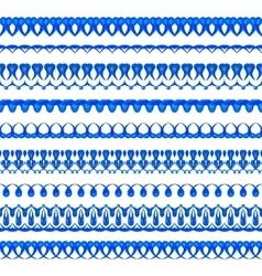 Watercolor borders vector