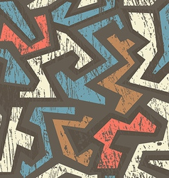 african geometric seamless pattern with wood vector image