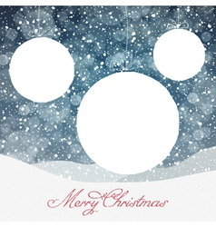 Christmas ball symbol and falling snow and isolate vector