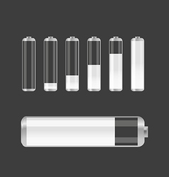 Different transparent accumulator collection vector image vector image