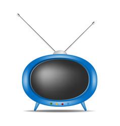Retro tv in blue design vector