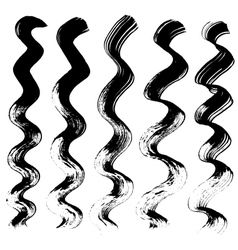 Staggered lines drawn with a brush on paper vector image vector image