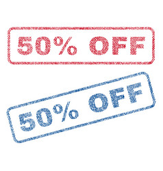 50 percent off textile stamps vector image vector image