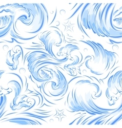 Blue sea wave Seamless background texture vector image