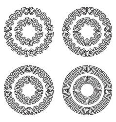 Decorative ornate Frames Borders vector image vector image