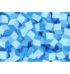 funky cubes vector image vector image