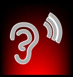 human ear style vector image vector image