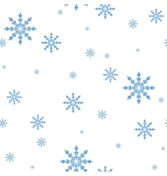 seamless pattern of the snowflakes celebratory bac vector image vector image