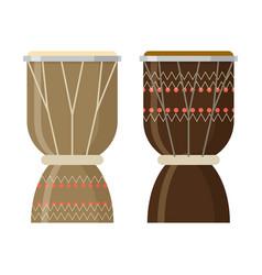african djembe drum vector image