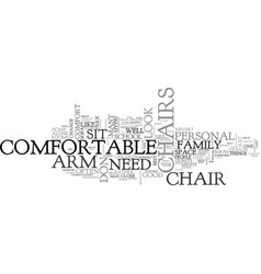 arm chairs text word cloud concept vector image