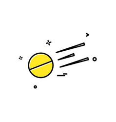 ball short good batsamn icon design vector image