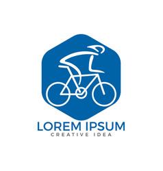 bicycle logo design vector image