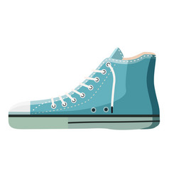 blue boot icon cartoon style vector image