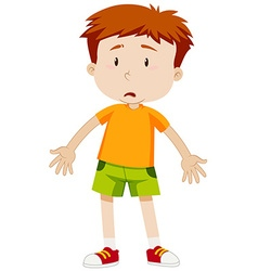 Boy with sad face vector