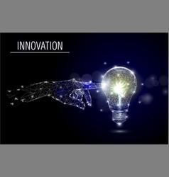 business innovation polygonal art style vector image