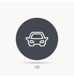 Car icon Auto transport sign vector