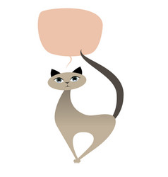 cat cartoon style-01 vector image