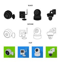 Cctv and camera sign vector