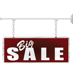 Chain metal sign Sale vector image