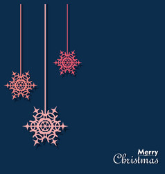 christmas greeting with symbols vector image