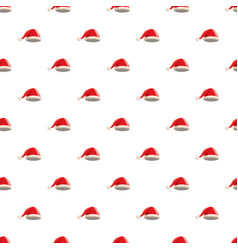Christmas red hat with pompom pattern vector