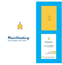 church creative logo and business card vertical vector image