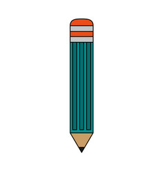 color image cartoon front view pencil element to vector image