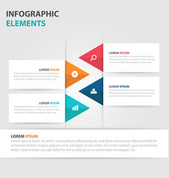 Colorful triangle business timeline infographics vector