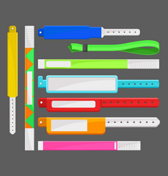 Different types of bracelets set templates for vector