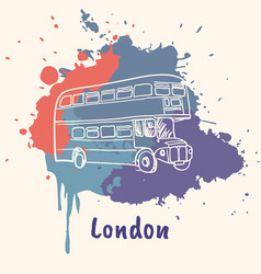 English emotive motive with cultural attractions vector