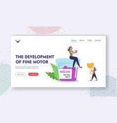 Fine motor skills development landing page vector