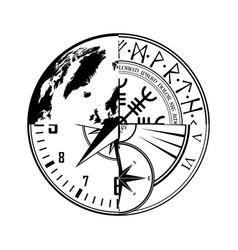 Four pieces circle design background vector