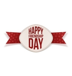 Friendship Day festive Banner and red Ribbon vector