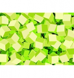funky cubes vector image
