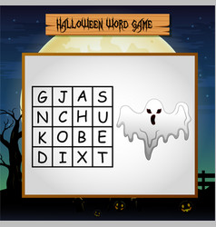 Game halloween find the word of ghost vector
