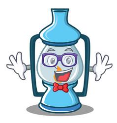Geek lantern character cartoon style vector
