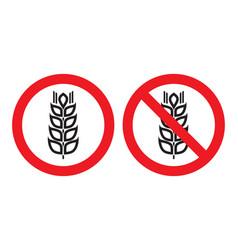 gluten free sign vector image