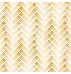 Golden pattern with chevron on white background vector