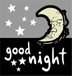 Good night symbol vector image