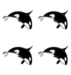 Grampus seamless pattern vector image