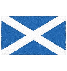 Hand drawn of flag of Scotland vector