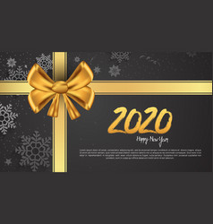 Happy new year 2020 golden color with golden vector