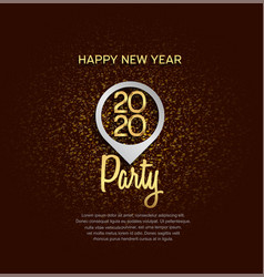 Happy new year 2020 golden number with silver pin vector