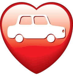 Heart Shape with car vector image vector image