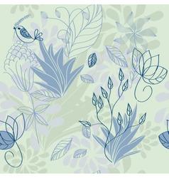 Herbal pattern vector