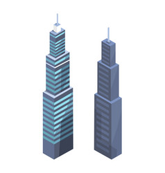 high-tech skyscrapers design modern real estate vector image