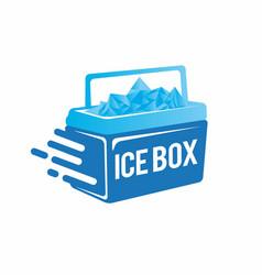 Ice box design template vector