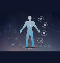 innovative technologies in science and medicine vector image